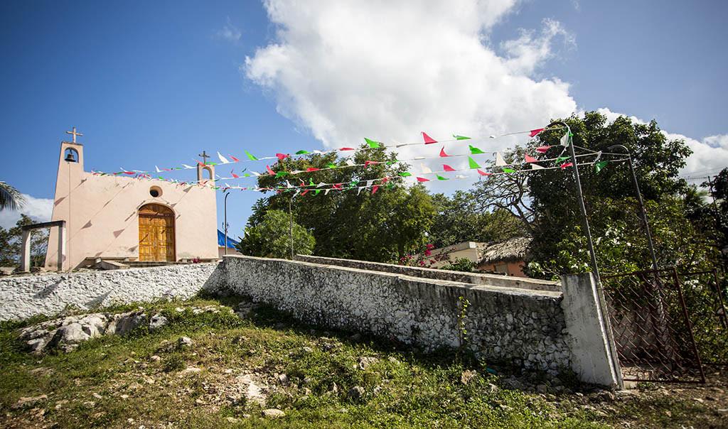 Iglesia del poblado de Yokdzonot