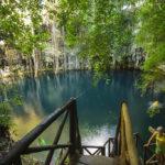 Cenote Yokdzonot, baño cristalino por la libre