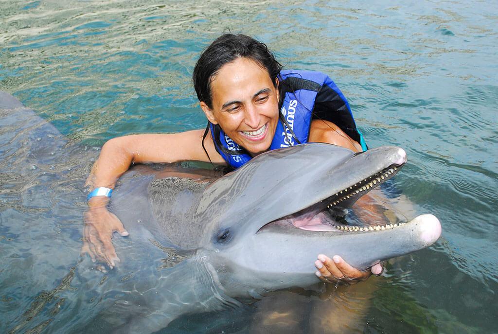 Nado con delfines en Riviera Maya
