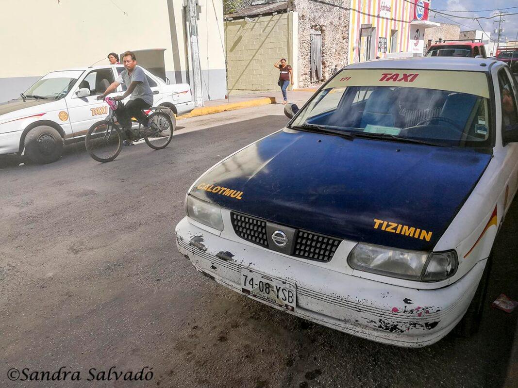 transporte taxi colectivo peninsula yucatan