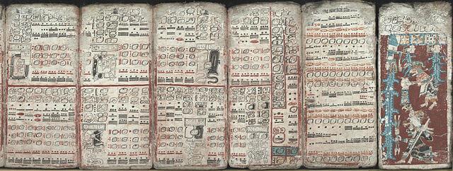 Los códices mayas, los escritos intelectuales