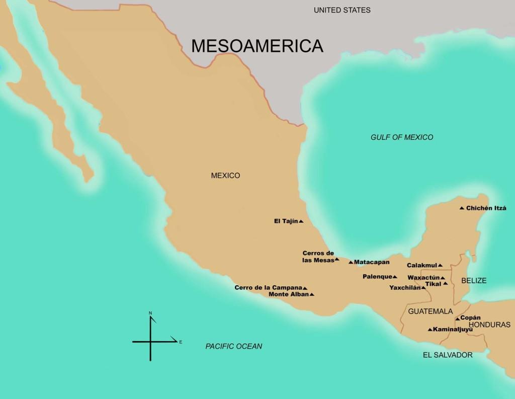 Sitios del Período Tardía Clásico 450 – 650 d.C. Fuente FAMSI