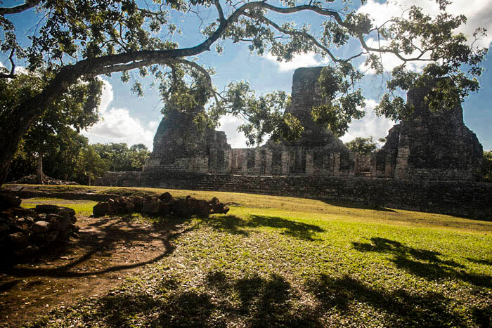 Archeological site Xpuhil, Peninsula Yucatan, Mexico.
