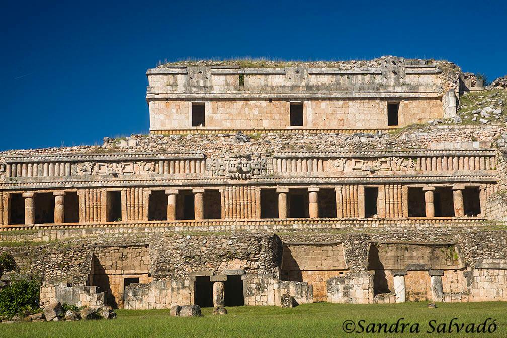 Palacio Norte. Zona arqueologica Sayil, Ruta Puuc, Yucatan
