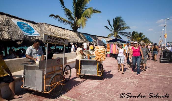 Malecon in Progreso, Mexico.