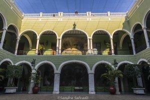 Palacio de Gobierno s XIX, Mérida, Yucatán, México.