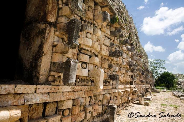 Archeological site Kabah, Palacio de los Mascarones, Yucatán, México.
