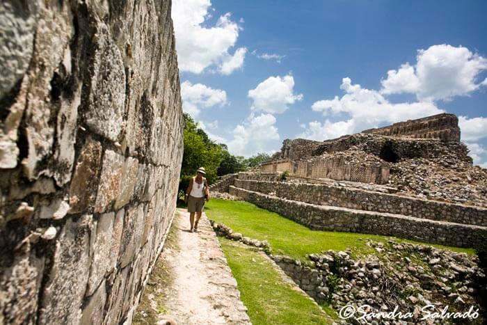Archeological site Kabah,Palacio de los Mascarones, Yucatán, México.