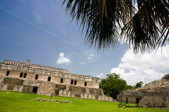 Archeological site Kabah, El Palacio, Codz Pop, Yucatán, México.