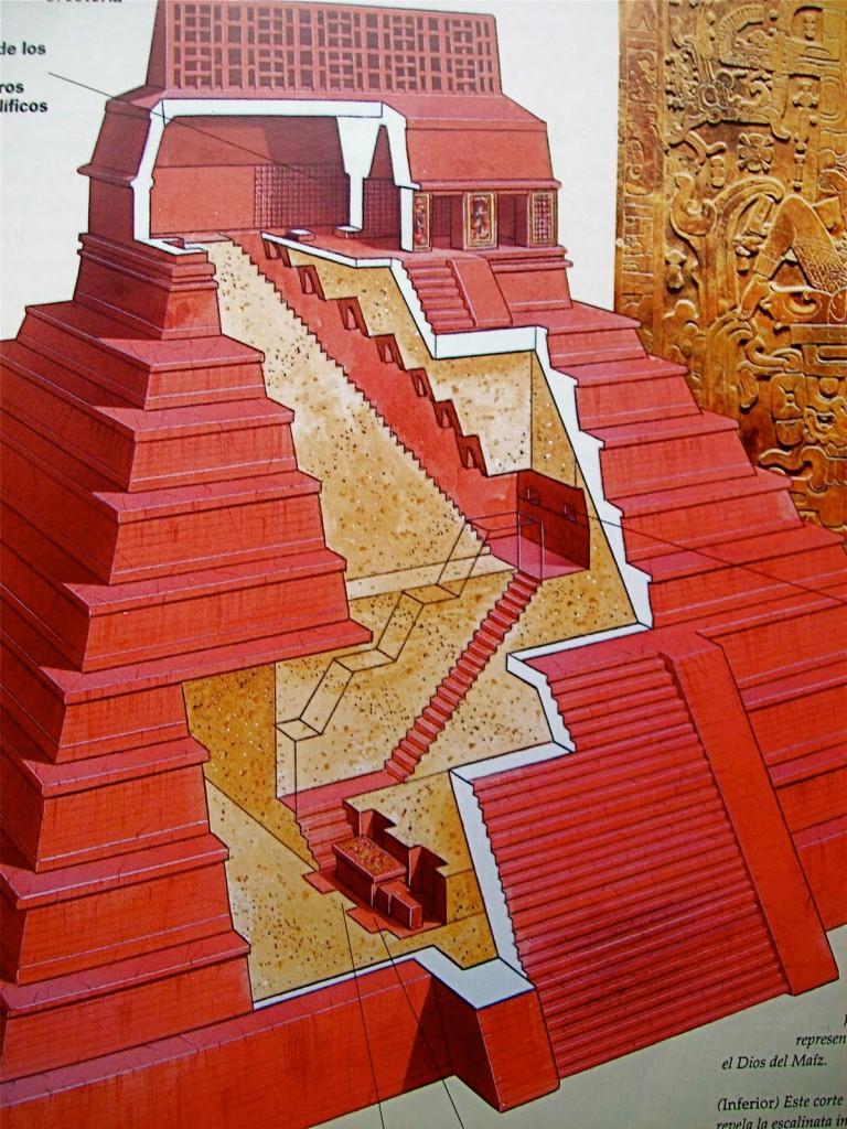 Templo inscripciones Palenque. Las tumbas en su interior
