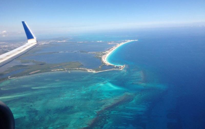 La franja costera de cancún que ocupa zona hotelera
