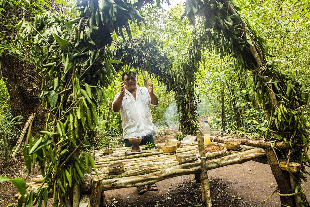 Ceremonia maya Punta laguna