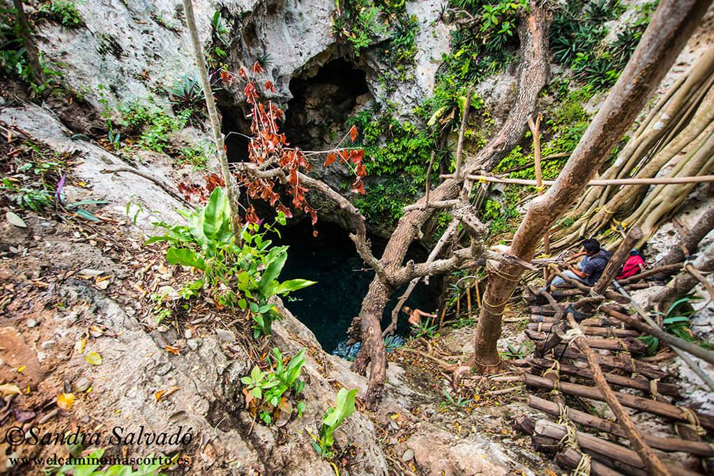 cenote tres oches homun