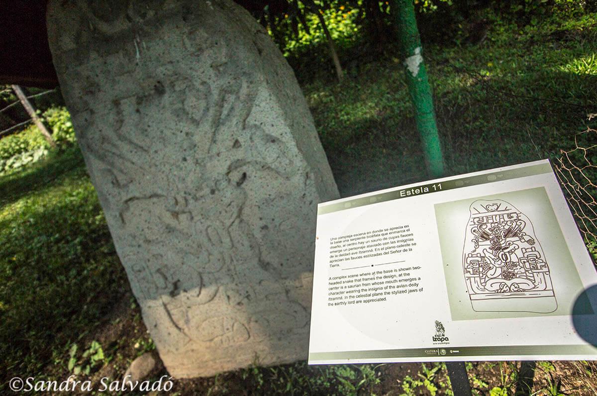 Estela Zona arqueologica Izapa, Chiapas