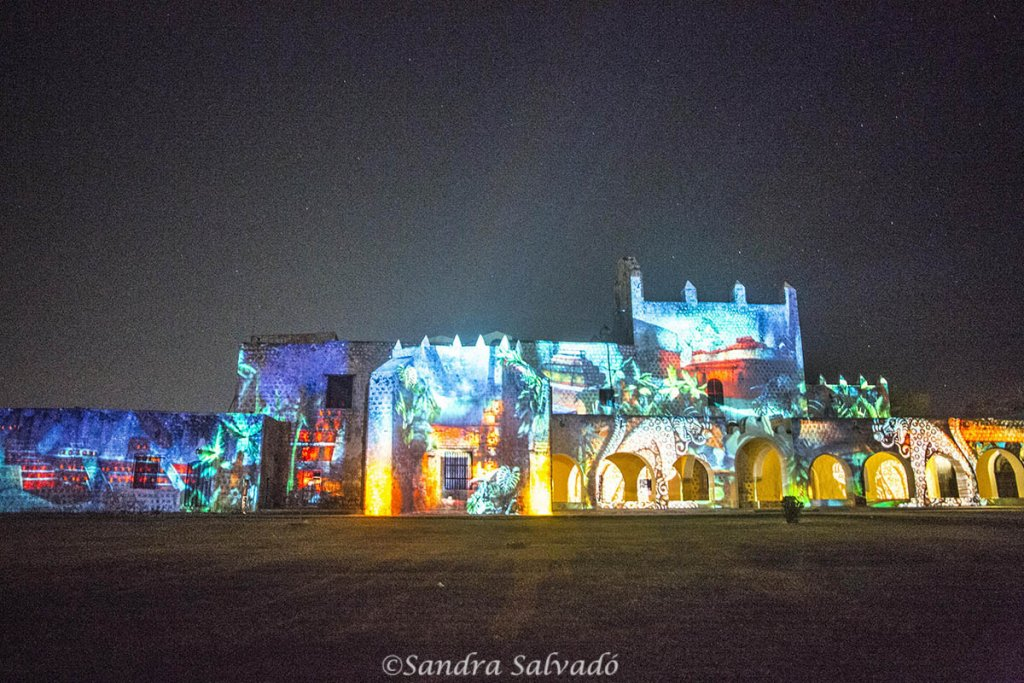 Video mapping Valladolid. Audiovisual about the convent. Yucatan, Mexico