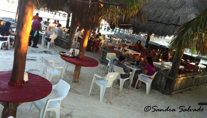 Beach restaurant, Cancun.