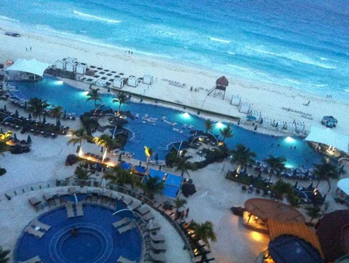 Zona hotelera de Cancún.