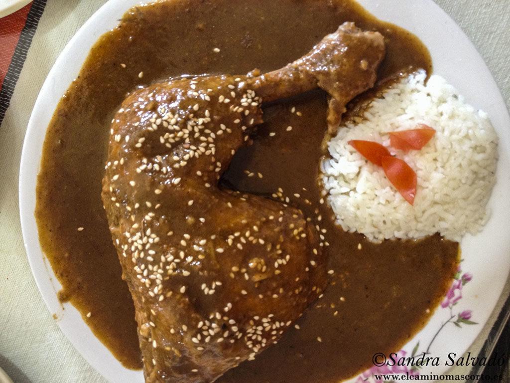 Chicken mole, Yucatecan style. Tres Reyes restaurant, Tizimín, Yucatán, Mexico.