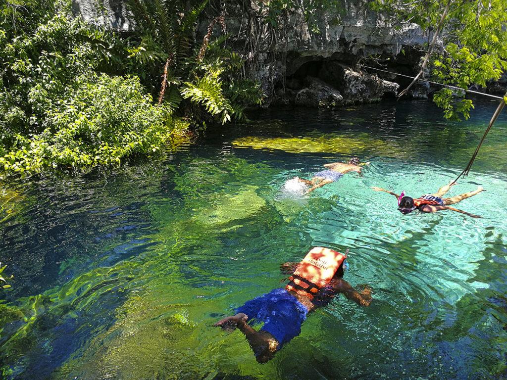 snorkeling in cenotes in riviera maya