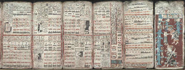 The Mayan codices, the intellectual writings