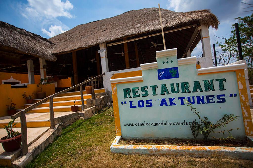 restaurante cenote Agua Dulce Palomitas