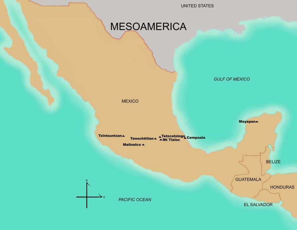Sitios del Período Posclásico Tardío 1200 – 1521 d.C. Fuente FAMSI