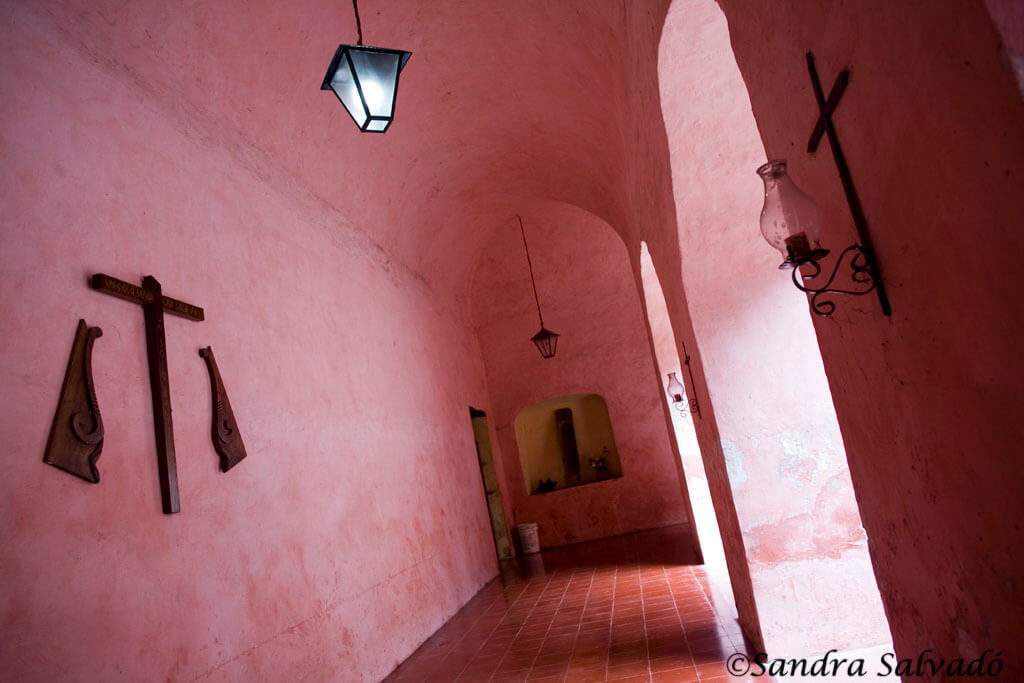Interior del convento San Bernardino  Valladolid, Yucatán, México.