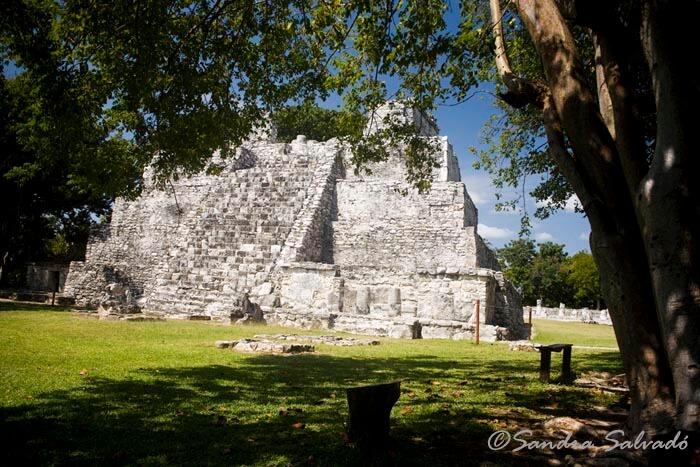 El Meco Archaeological Site, Cancun, Peninsula Yucatan, Mexico