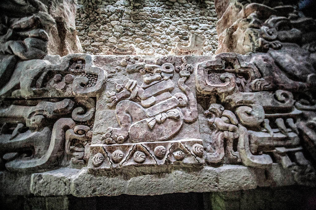 Mayan Balamku Frieze