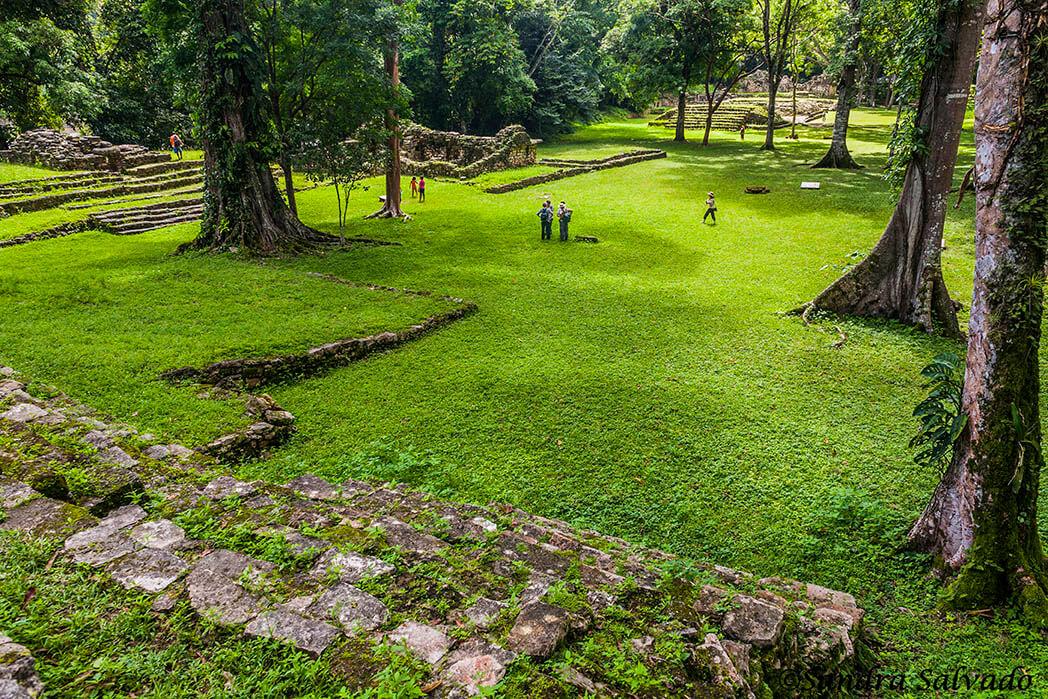 Zona arqueologica Yaxchilan, Chiapas, México.