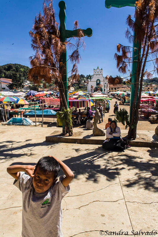San Juan Chamula Market in front of the church of San Juan Bautista