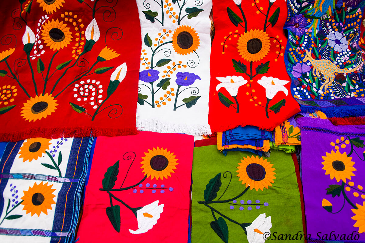 Chiapas. Artesanías mexicanas. Tejidos.