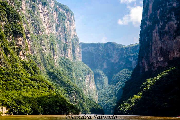 Cañón del Sumidero, vertiginosas paredes