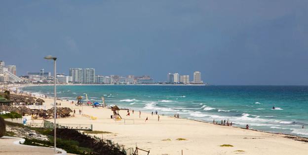 Cancun beaches. Mexican Caribbean.