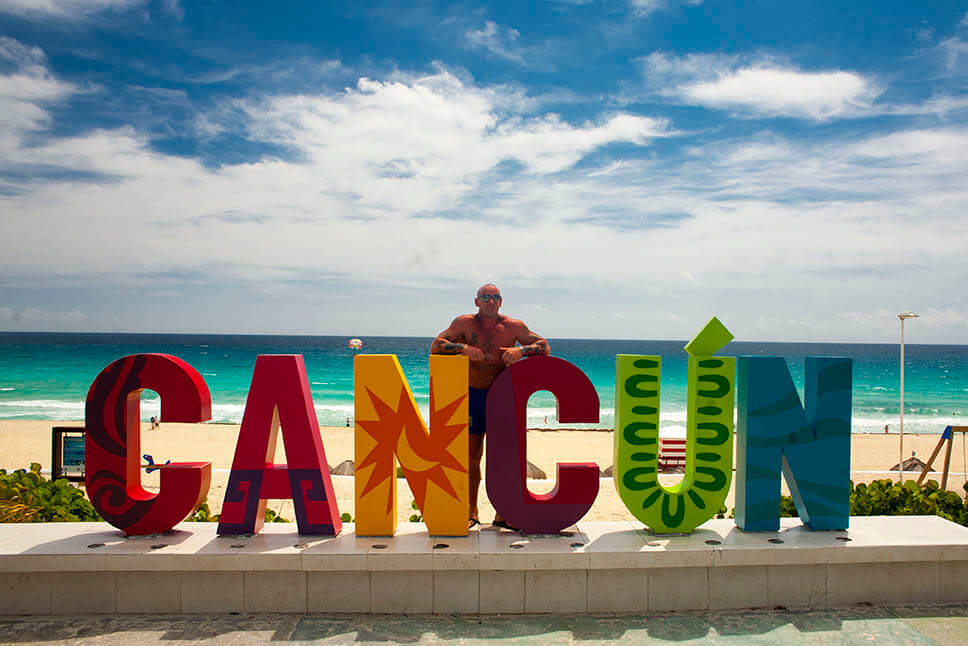 Cancun tourist places. Cancun photospot.