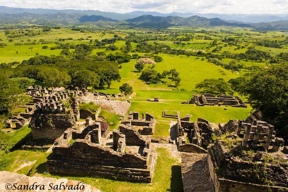 Zona arqueológica Toniná, Chiapas, México.