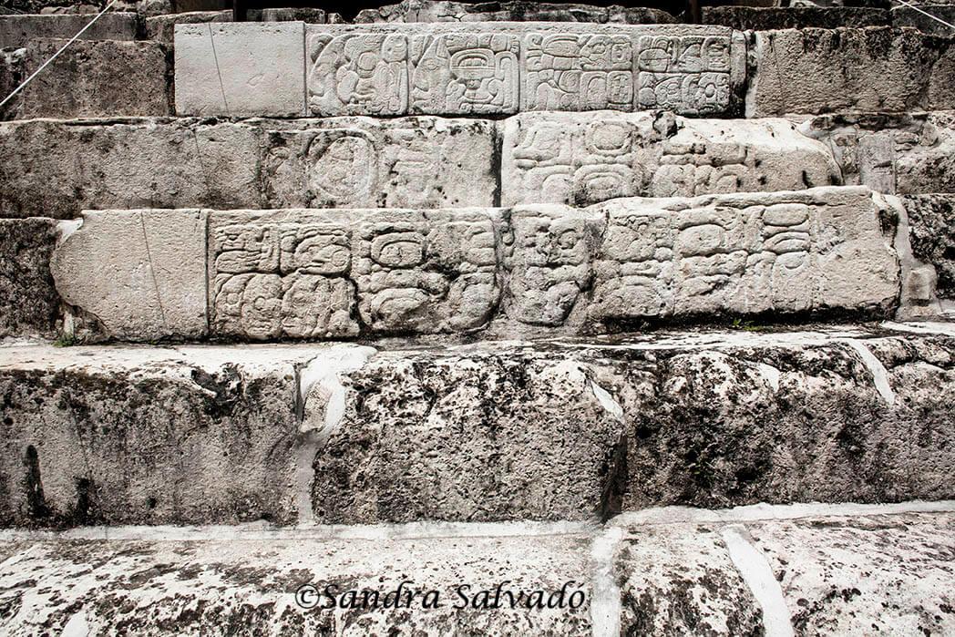 Mayan glyphs Palenque, Chiapas, Mexico.