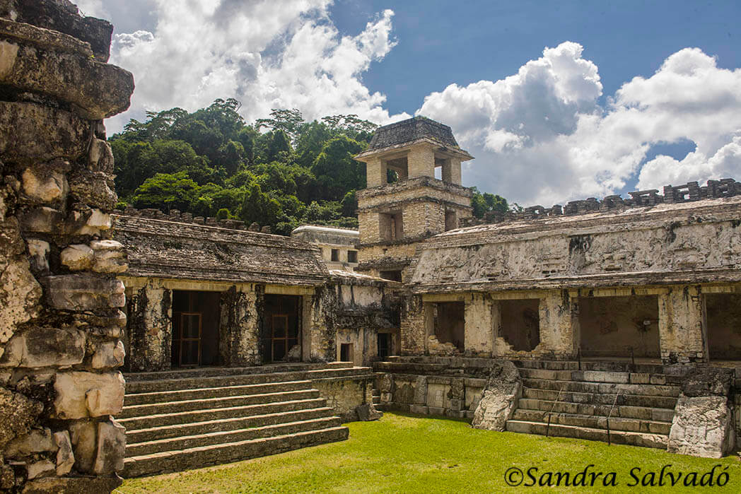 Palenque Palace, Chiapas, Mexico.