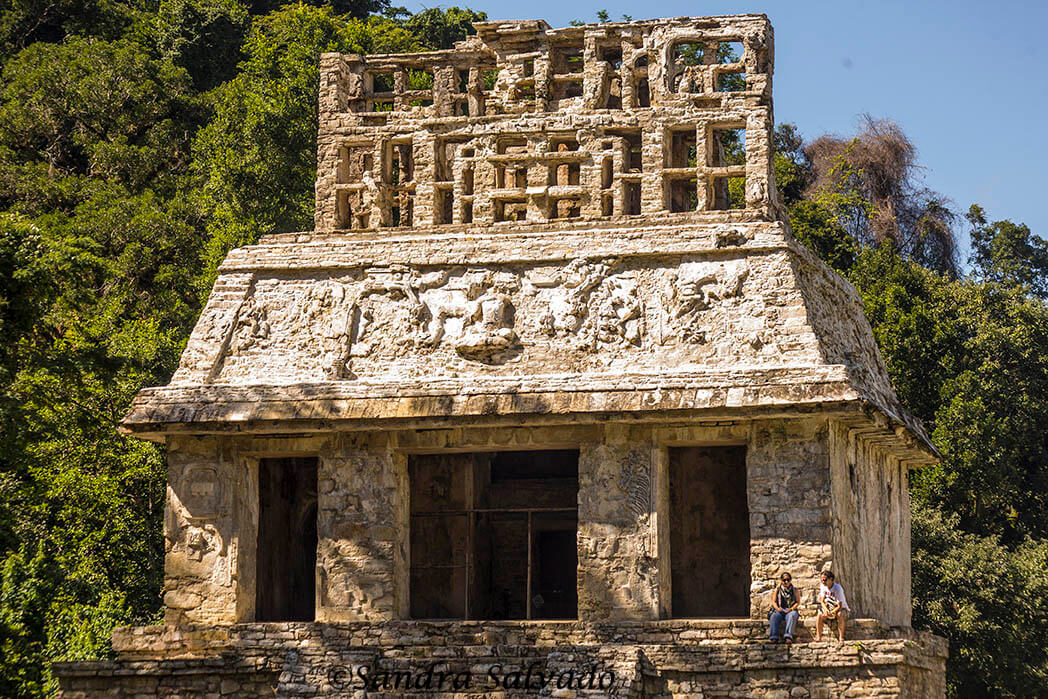 Temple of the Sun Palenque, Chiapas, Mexico ,.