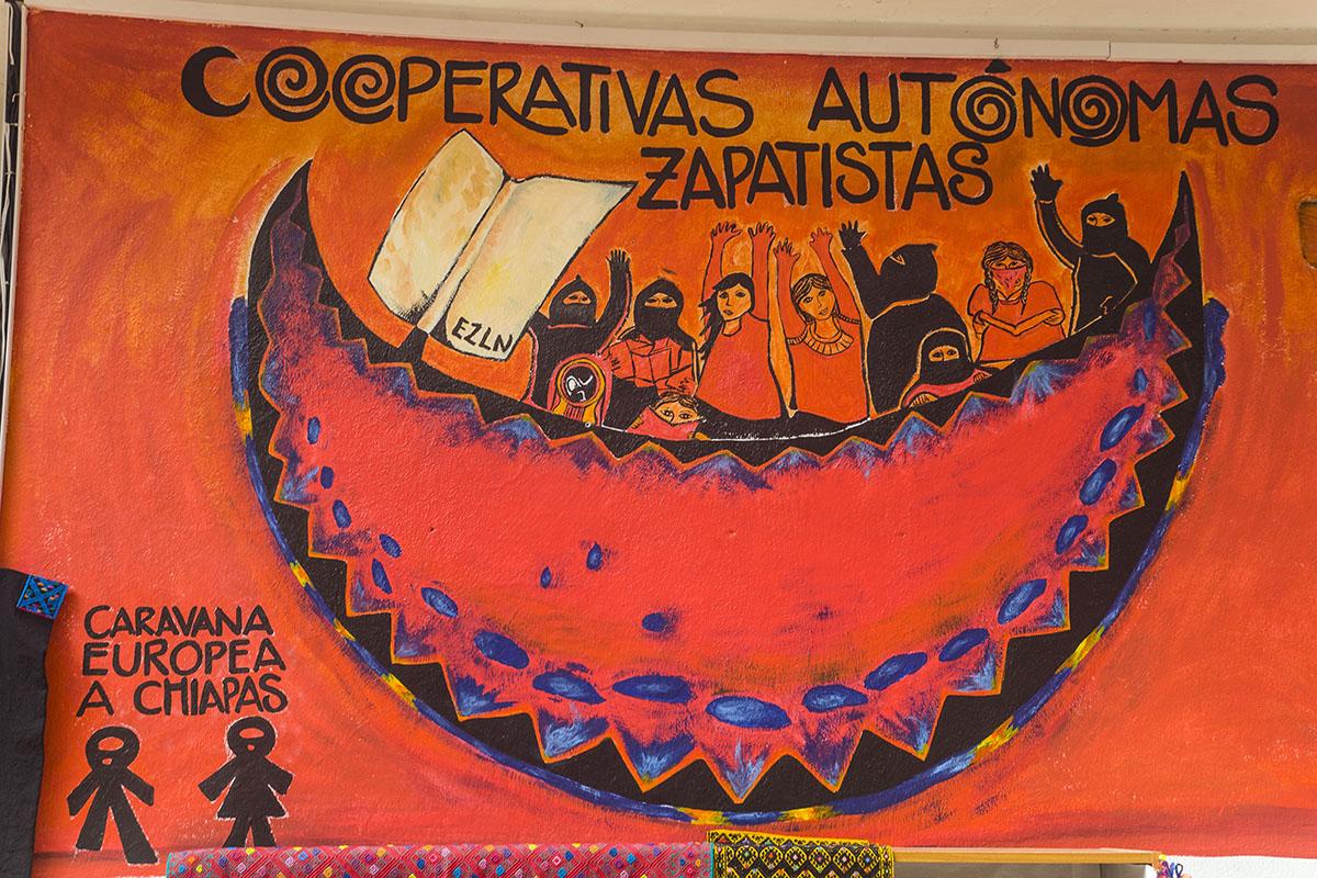Mural zapatsita en Chiapas