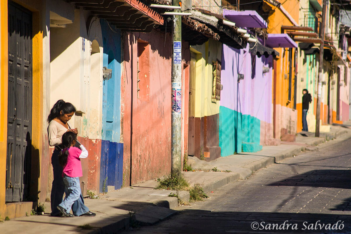 Colorful streets of San CRistóbal delas Casa, Chiapas, Mexico.