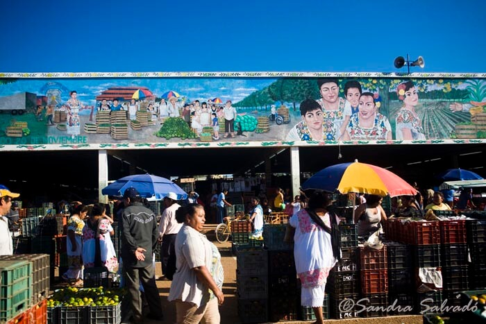 Oxkutzcab market mural