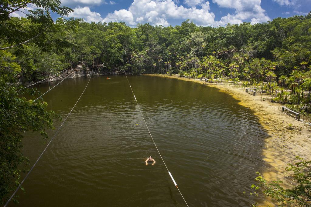 cenote las mojarras puerto morelos