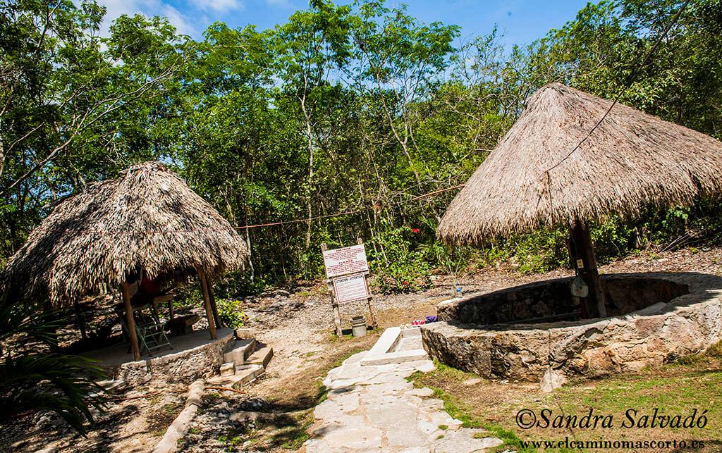 Cenote Multum Há, baño bajo una cúpula de estalacticas. 1