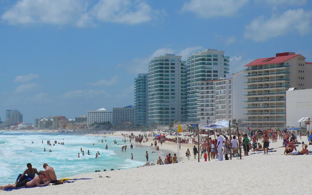 travel to Cancun. Beaches of the Mexican Caribbean.