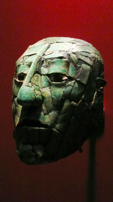 Mayan King Pakal mask.
