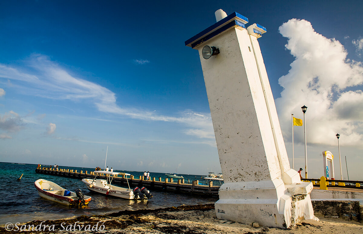 Lighthouse of Puerto Morelos, Riviera Maya, Quintana Roo, Mexico.