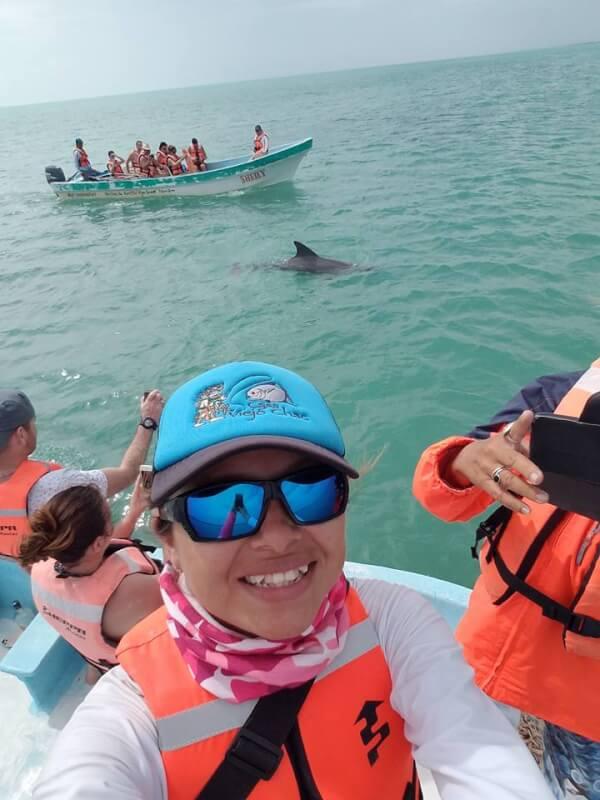 Tour delfines Punta Allen, Quintana Roo, México.