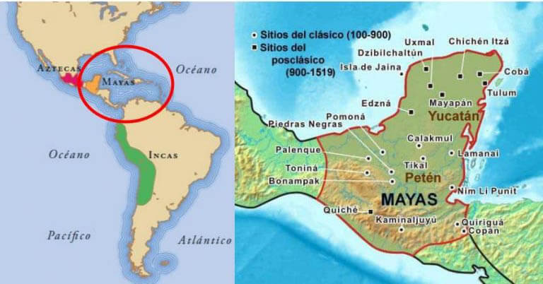 In what situation were the Maya at the arrival of the colonizer? 1