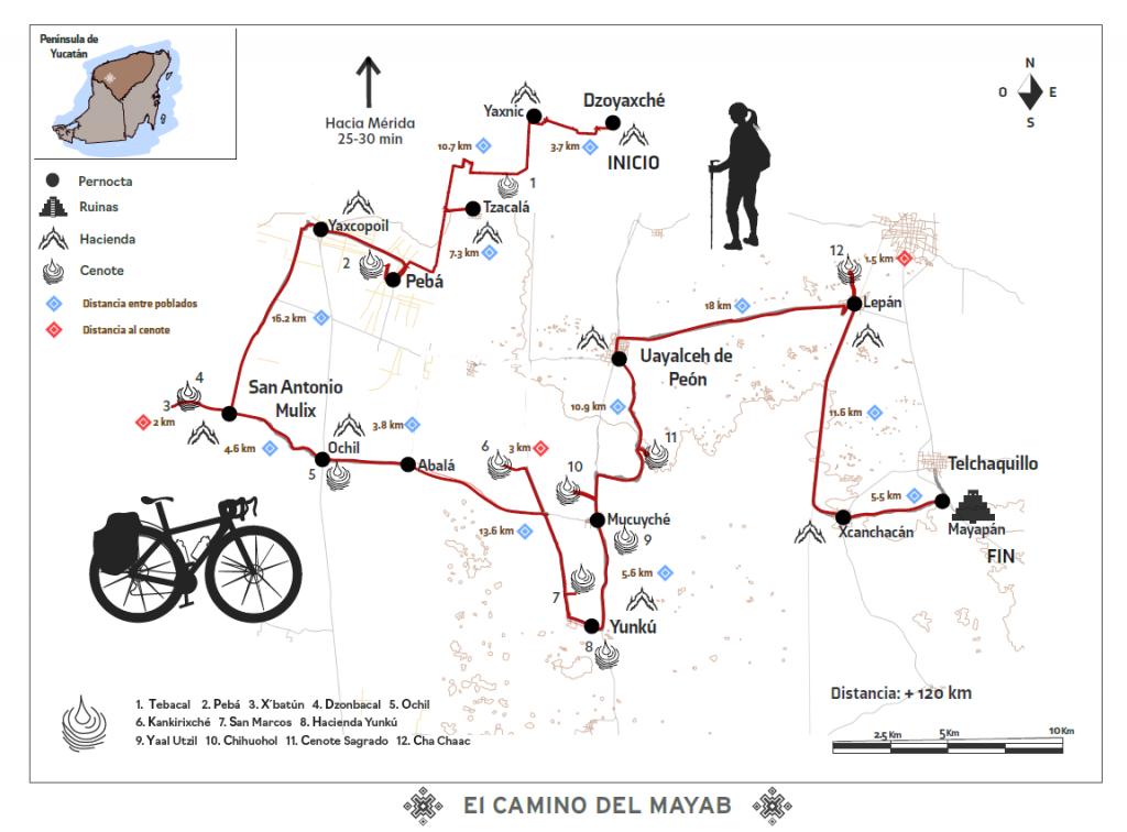 mapa camino del mayab